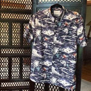 Lucky Brand short sleeve button down aloha shirt
